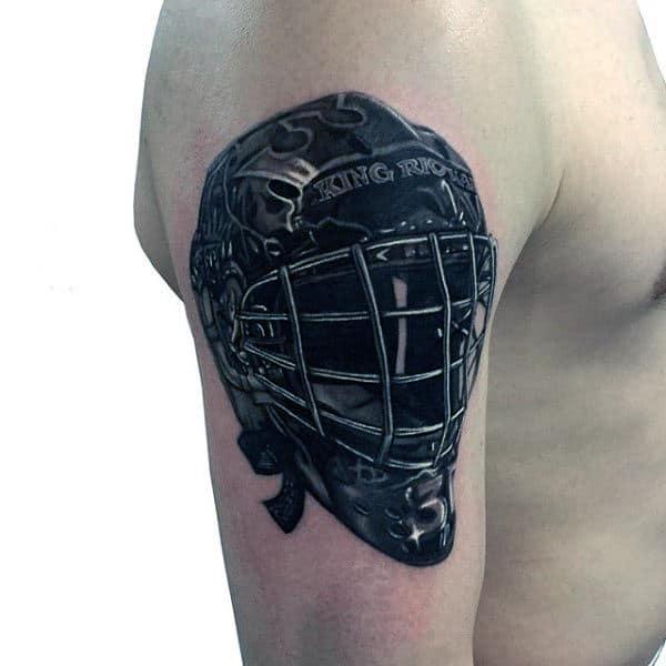 Arm Hockey Mask Tattoos For Gentlemen