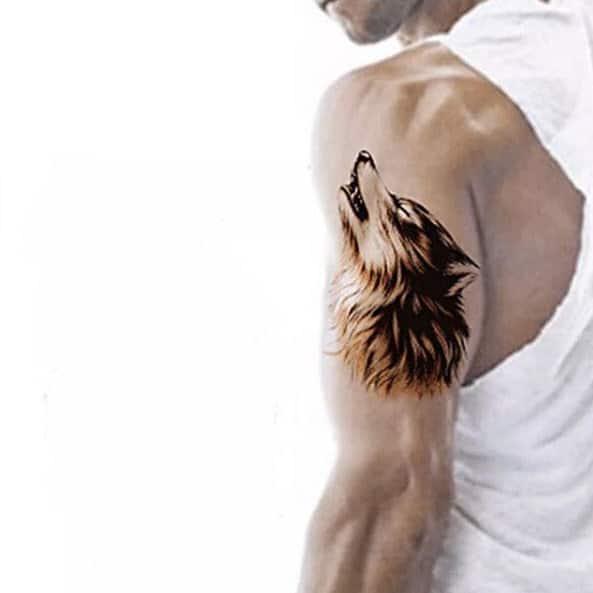 arm howling wolf tattoo __tattooforaweek