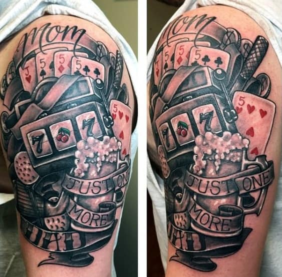 Arm Incredible Slot Machine Tattoos For Men
