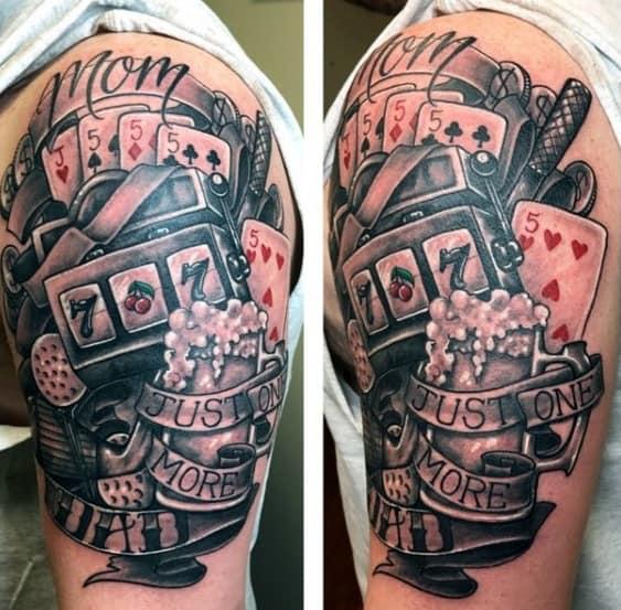 Arm Incredible Slot Machine Tattoos For Men