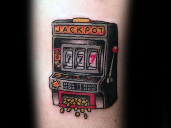 Arm Jackpot Slot Machine Tattoos For Gentlemen