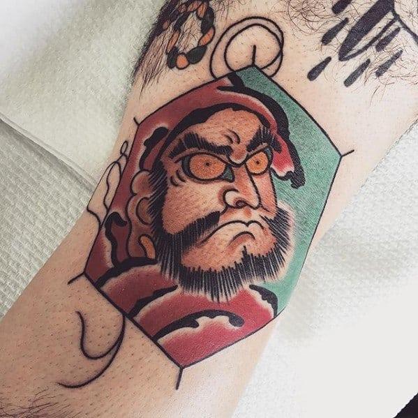 Arm Japanse Kite Mens Tattoo Designs