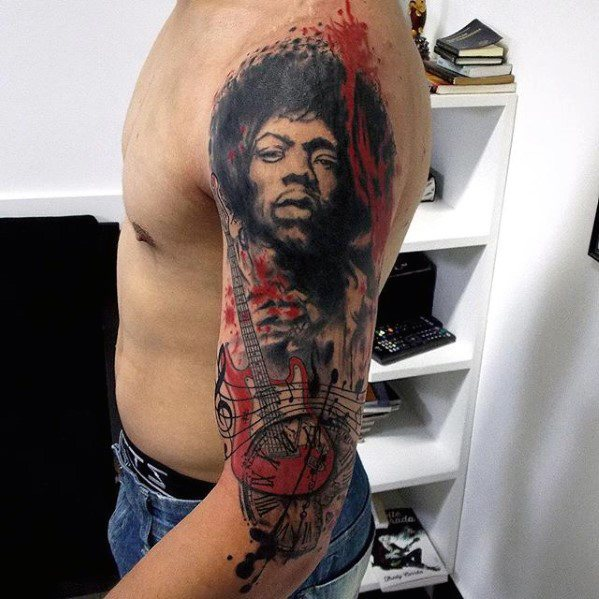 Arm Jimi Hendrix Tattoo Design Ideas For Males