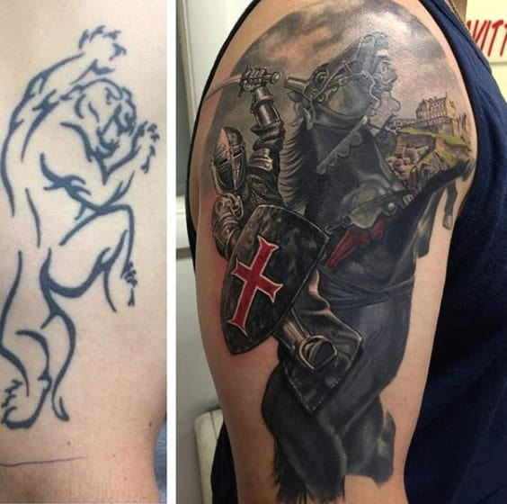 Arm Knight Mens Tattoo Cover Up