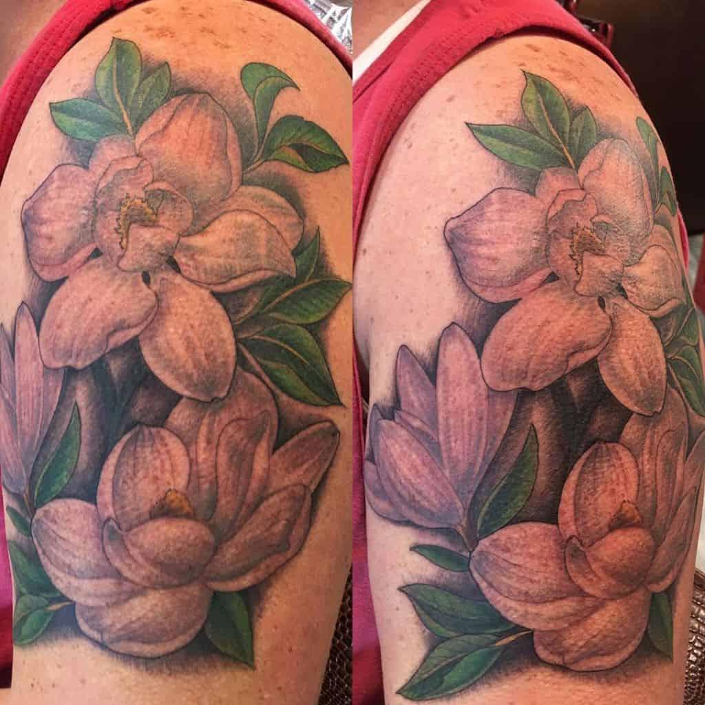 arm magnolia tattoos adamgoldsteintattoos