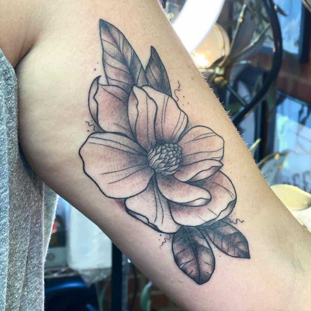 arm magnolia tattoos figure8inkstudios