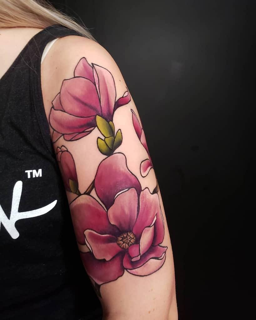 arm magnolia tattoos mbakertattoo