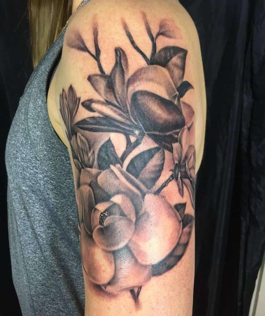 arm magnolia tattoos tattoo_ash