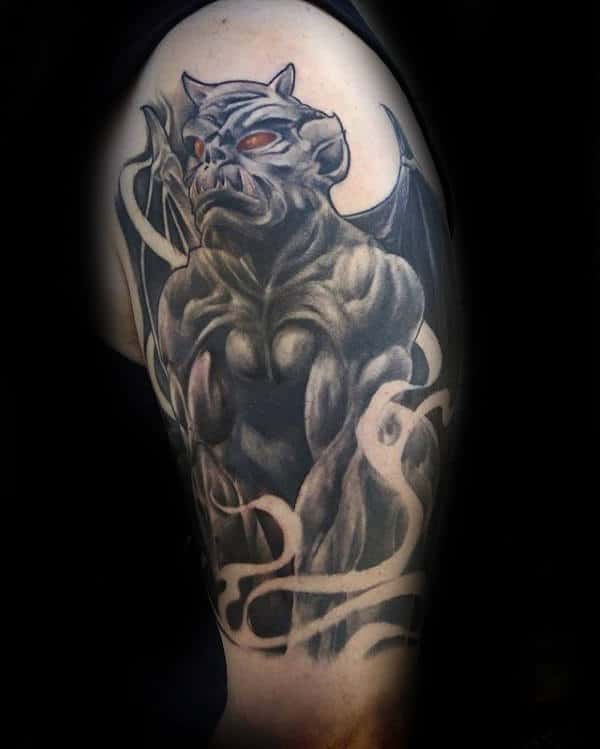 Arm Male Gargoyle Tattoo Design Ideas