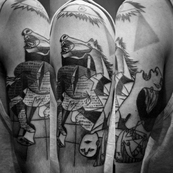 Arm Male Pablo Picasso Tattoo Ideas