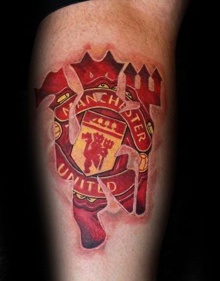 Arm Masculine Manchester United Tattoos For Men