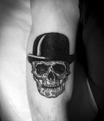 ba65cc6d1 40 Top Hat Tattoo Designs For Men - Topper Ink Ideas