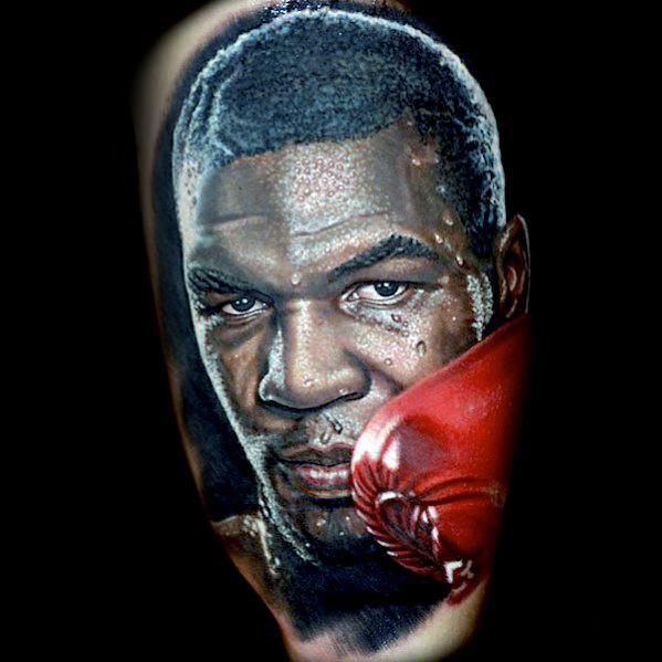 Arm Mens Boxer Portrait Tattoo