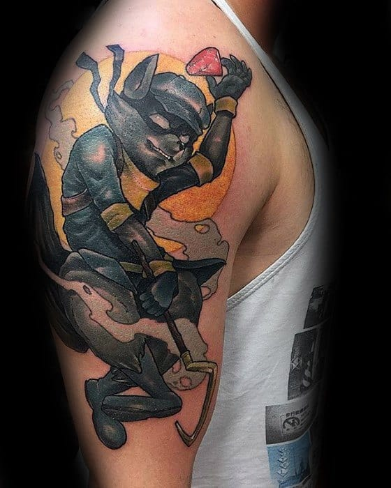 Arm Mens Cool Gamer Tattoo Design Inspiration