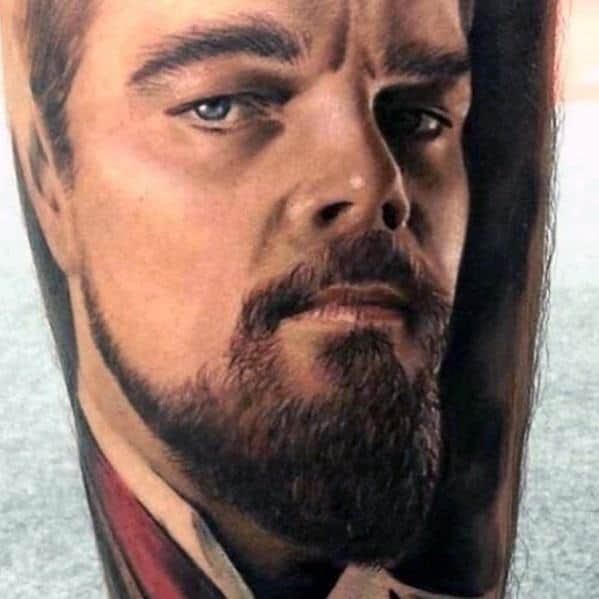 Arm Mens Portrait Tattoo Design Ideas
