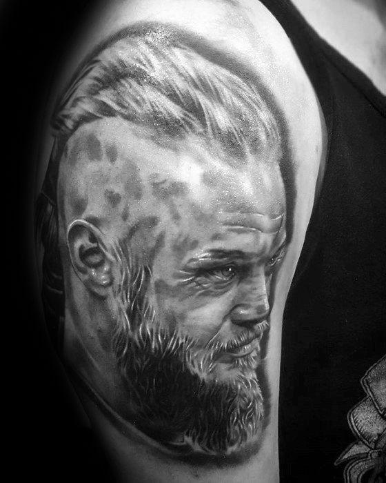Arm Mens Ragnar Tattoo Design Inspiration