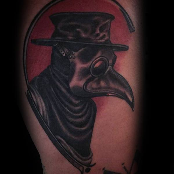 Arm Mens Tattoo Ideas With Plague Doctor Design