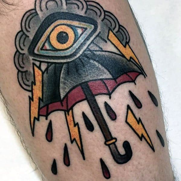 Arm Mens Umbrella Tattoo Ideas