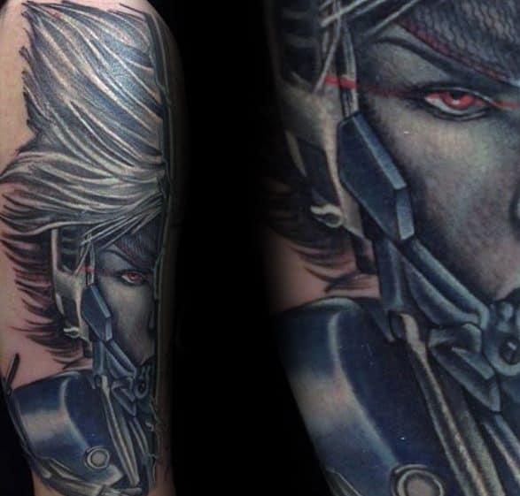 Arm Metal Gear Tattoo Designs For Guys