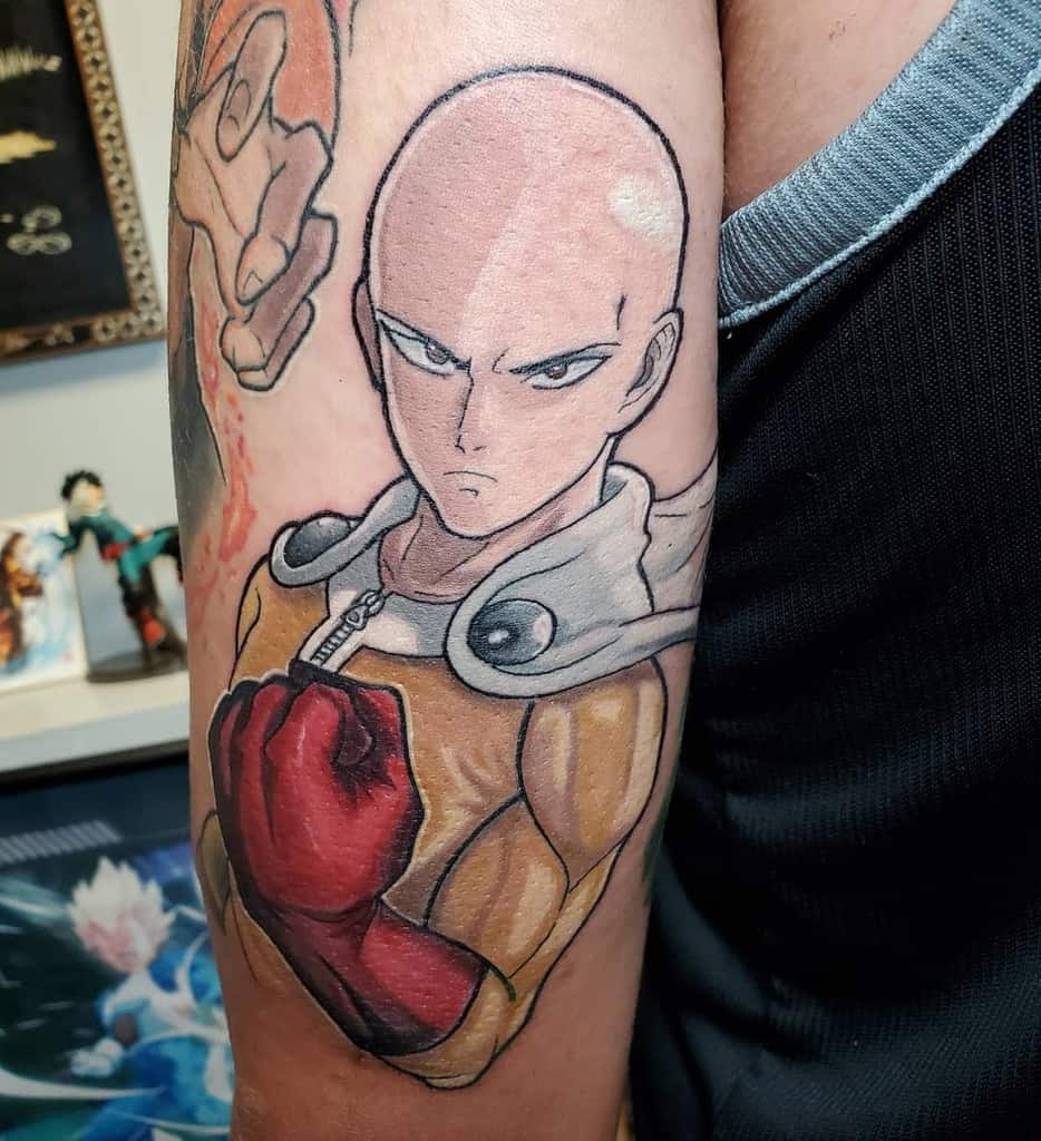 Top 77 Best One Punch Man Tattoo Ideas – [2020 Inspiration Guide]