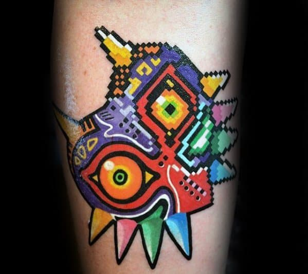 Arm Pixel Guys Tattoo Ideas Majoras Mask Designs