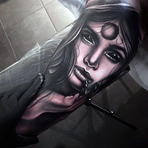 Arm Portrait Tattoo Ideas On Guys