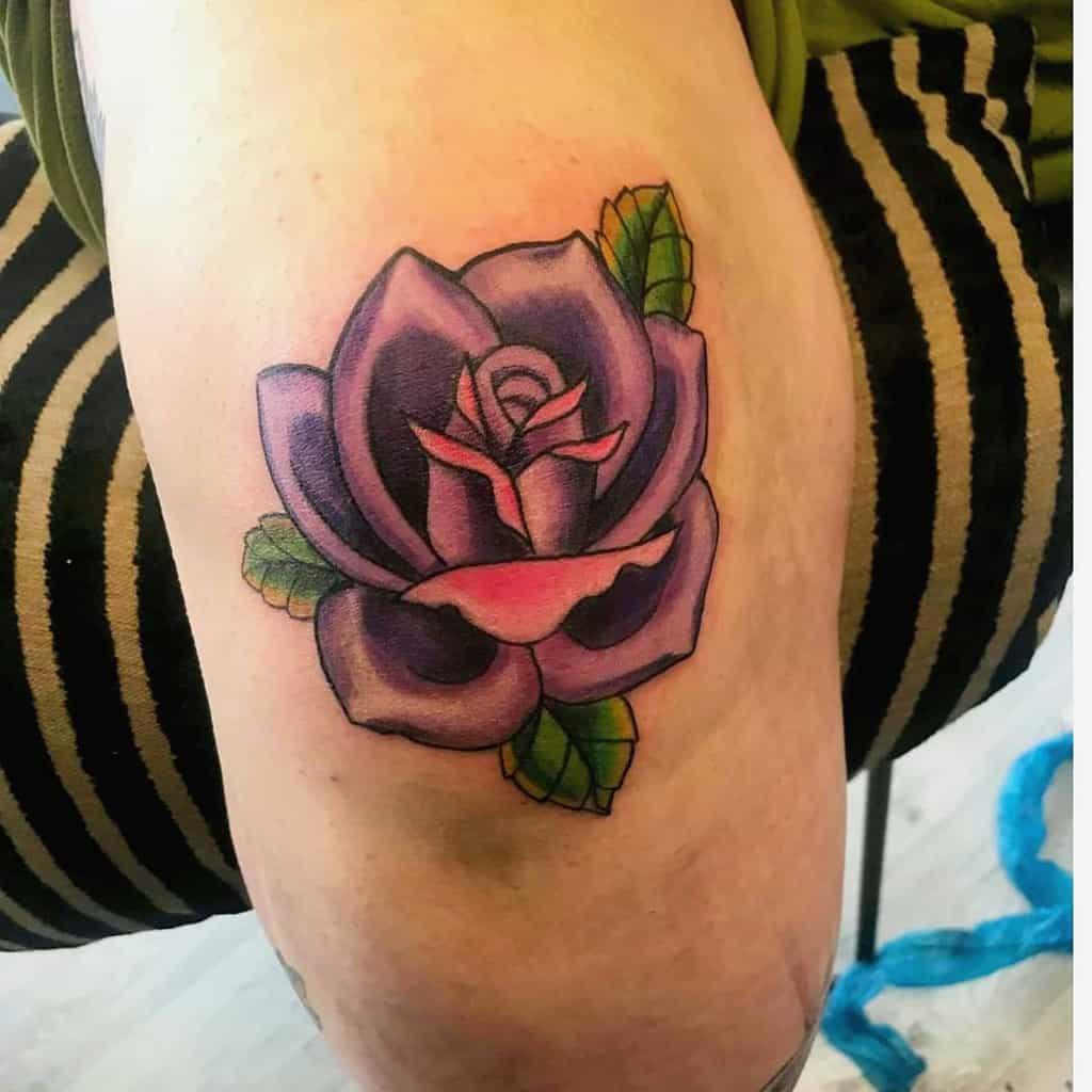 arm purple rose tattoos joepaul56