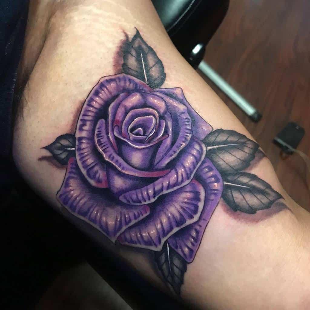 arm purple rose tattoos marsinktattoo