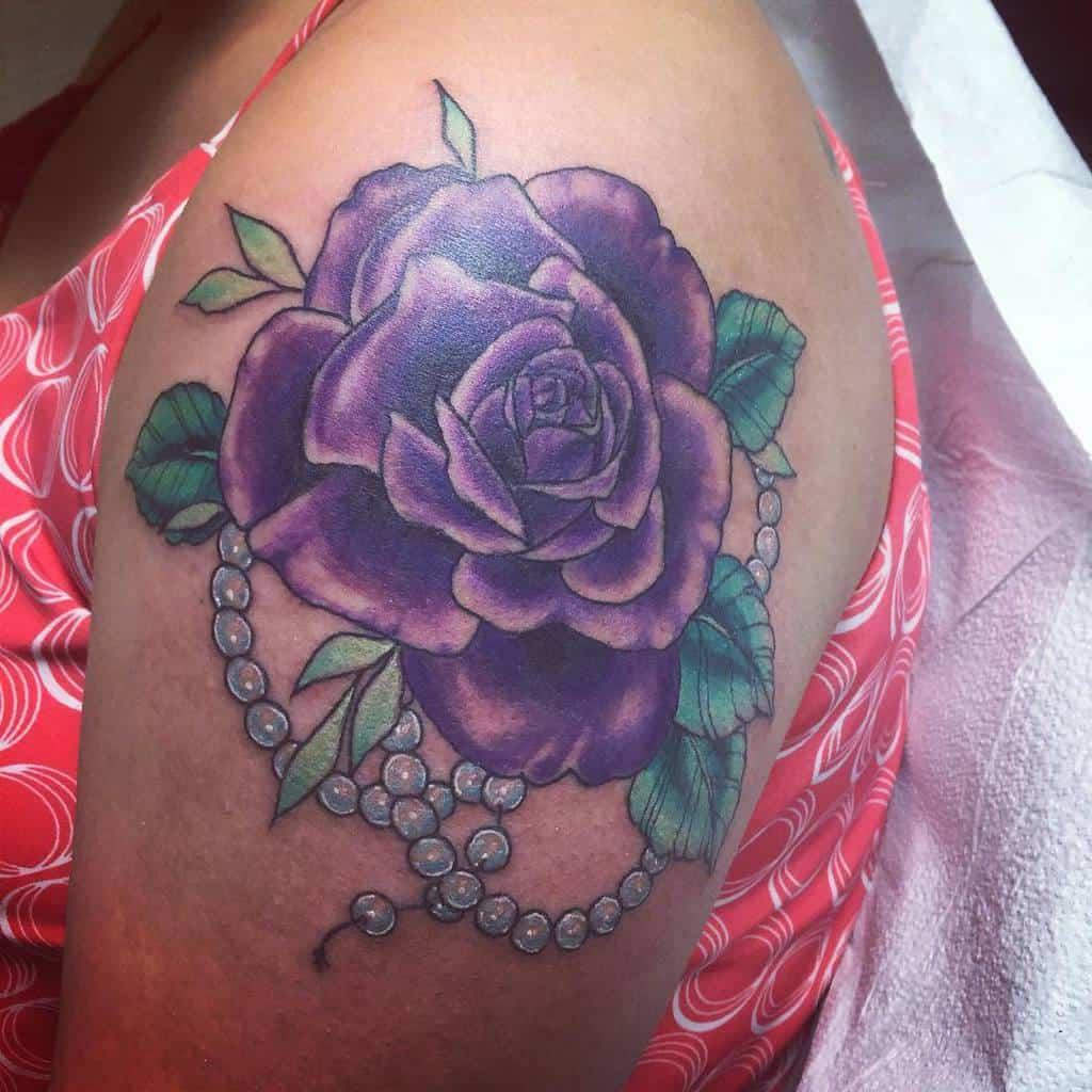 arm purple rose tattoos meaghan.rhea