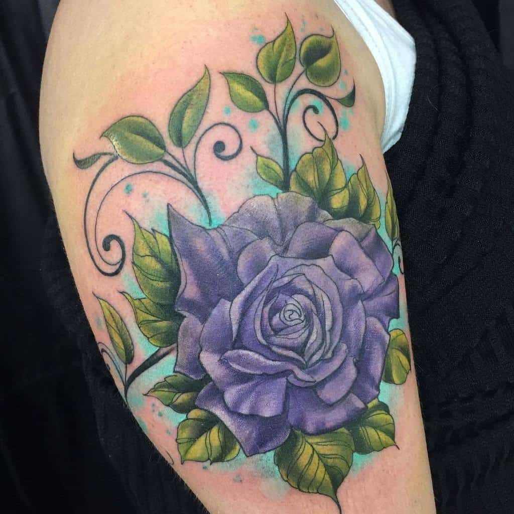 arm purple rose tattoos niki_nix_army