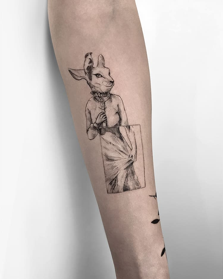 Arm Rabbit Tattoos Cmlttt