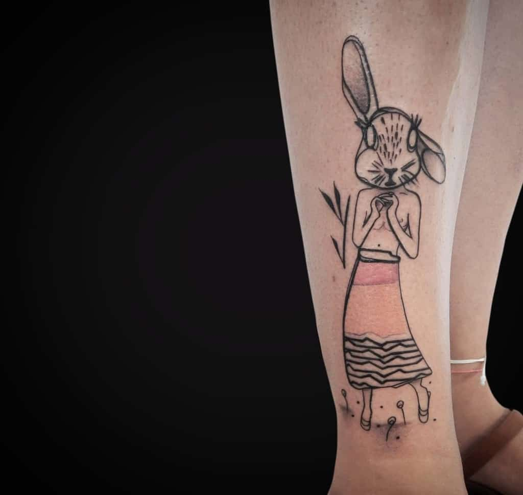 Arm Rabbit Tattoos Toneatto.o