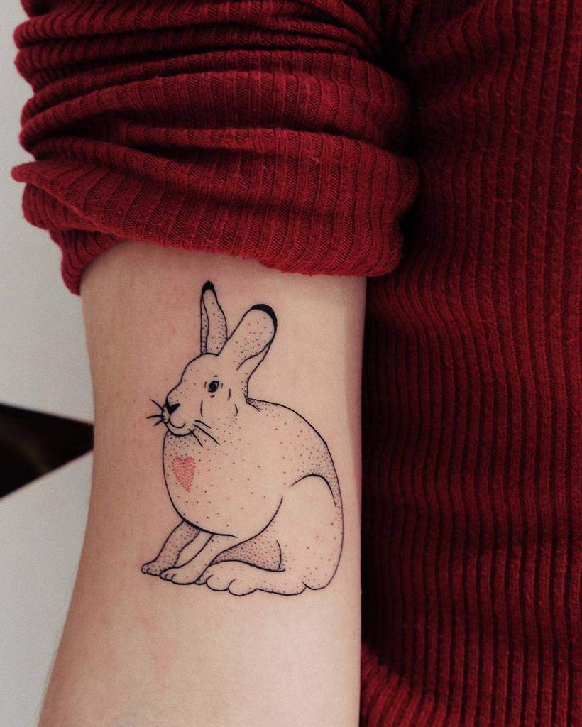 Arm Rabbit Tattoos Vo Vo