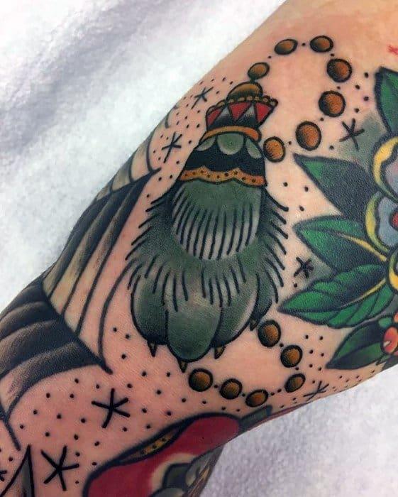 Arm Rabbits Foot Distinctive Male Filler Tattoo Designs