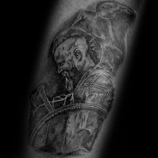 Arm Ragnar Tattoos For Gentlemen
