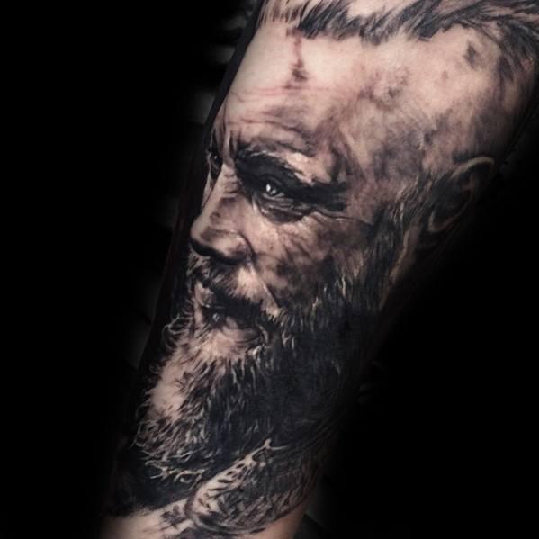 Arm Ragnar Vikings Tattoos Male