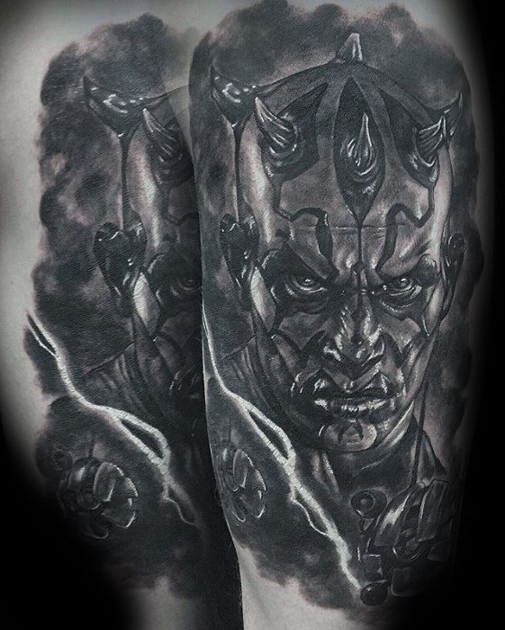 Arm Realistic Amazing Mens Darth Maul Tattoo Designs