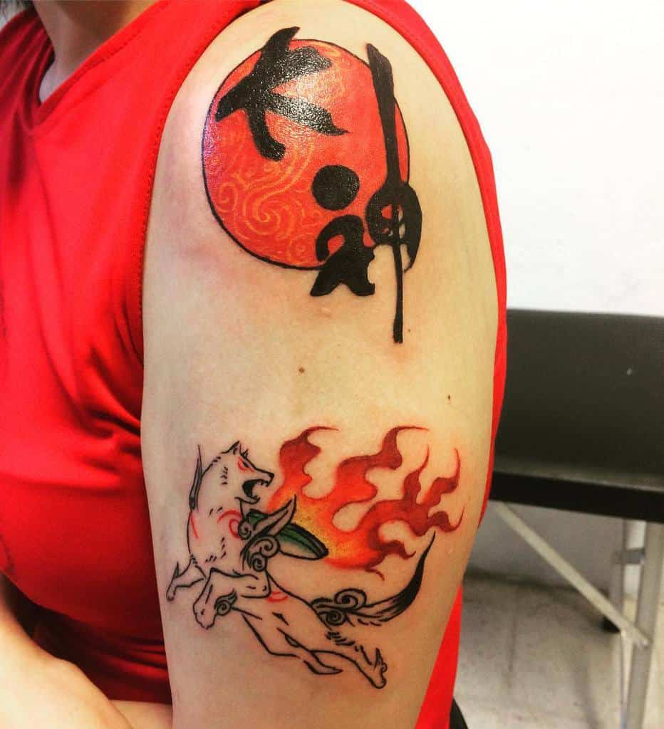 Arm Shoulder Okami Tattoos Creatura.anningan