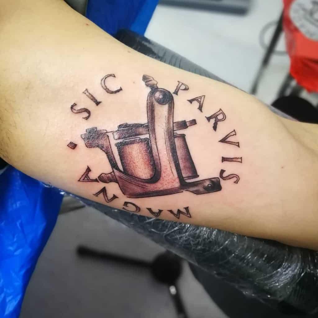 Arm Sic Parvis Magna Tattoos Corrado Damico 2