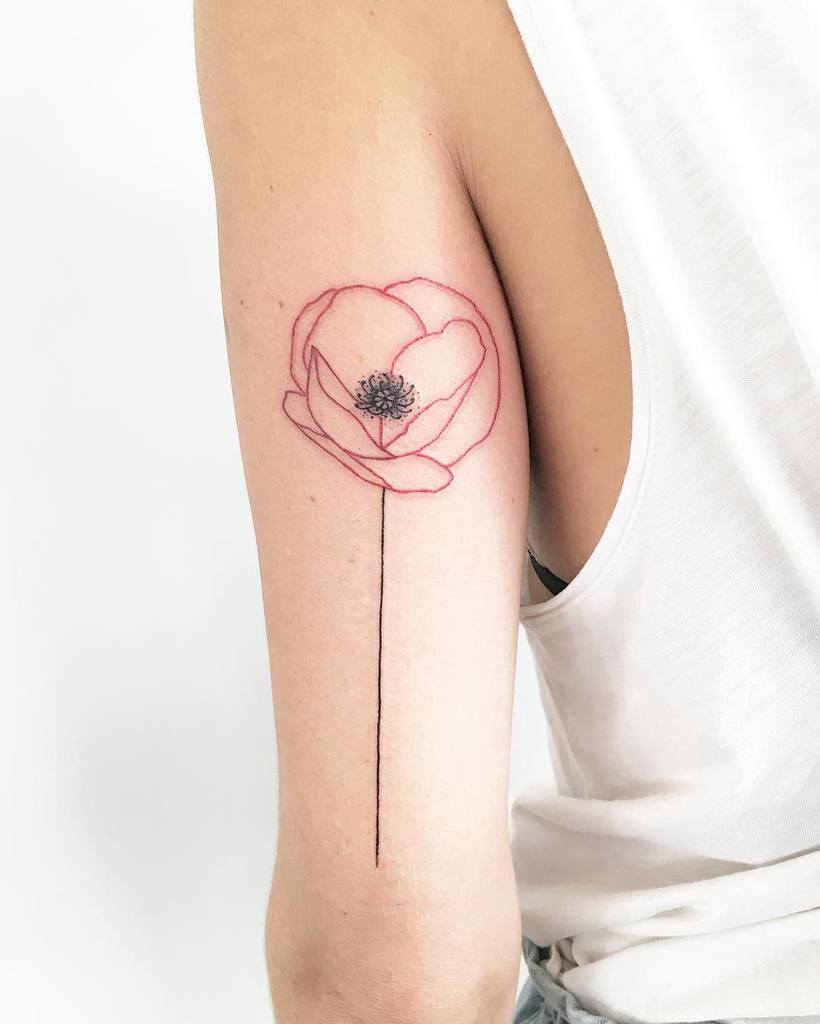 arm simple flower tattoos twiggzy_tattoos