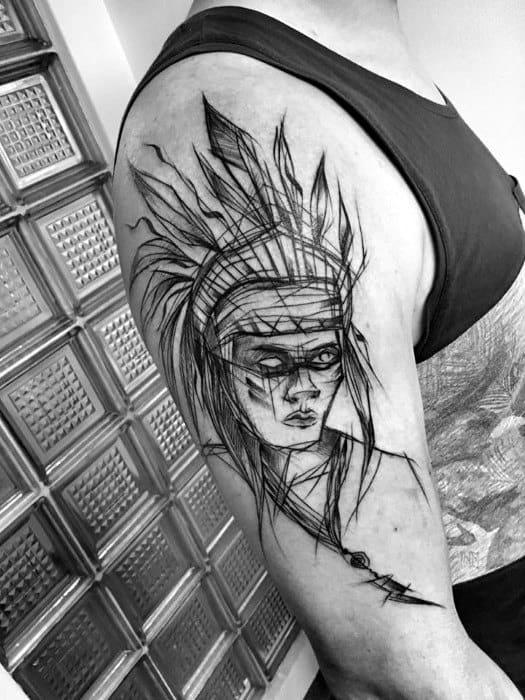 60 Sketch Tattoos For Men Artistic Design Ideas