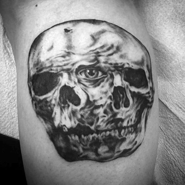 Arm Skulls Morph Tattoo Ideas On Guys