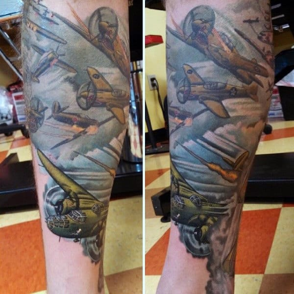 Arm Sleeve Air Force Tattoos For Men