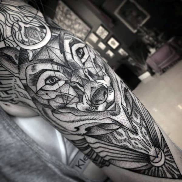 Arm Sleeve Creative Mens Sacred Geometry Tattoos For Men