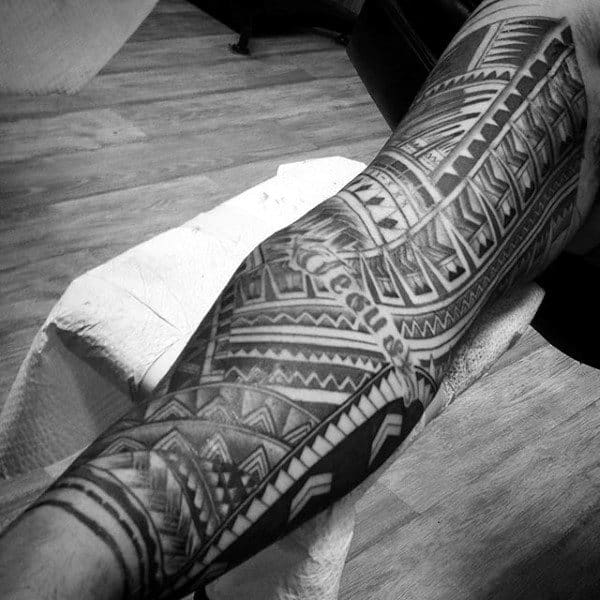 Arm Sleeve Guys Tribal Tattoos