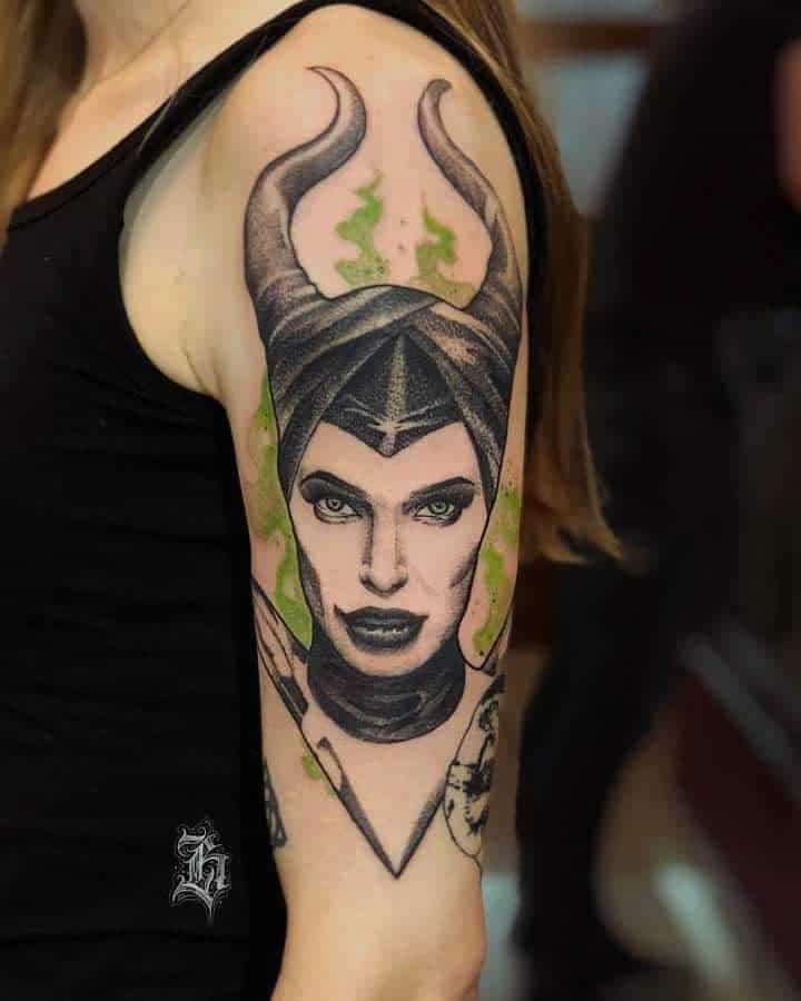 Arm Sleeve Maleficent Tattoos Heretictattoostudio