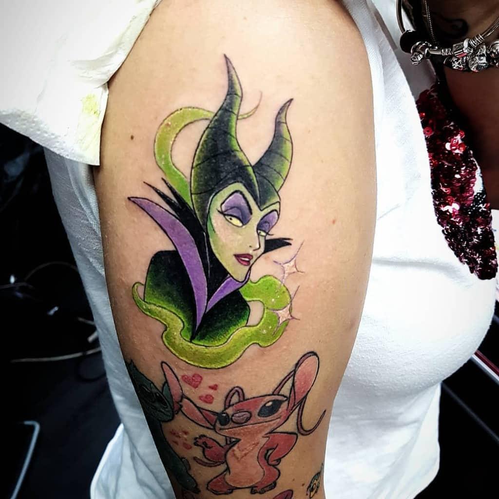 Arm Sleeve Maleficent Tattoos Inkmortaltattooinst