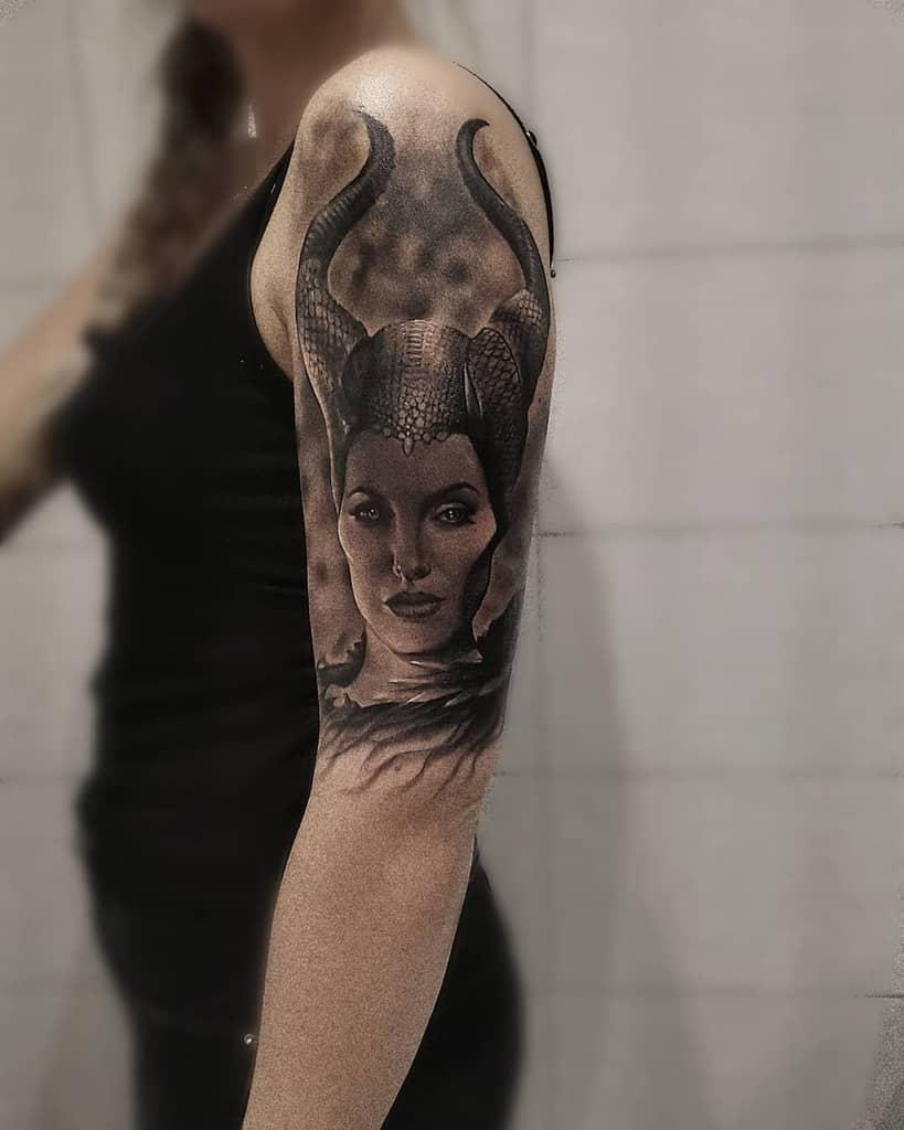 Arm Sleeve Maleficent Tattoos Linaperssonburman