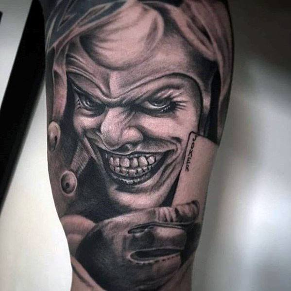 50 Jester Tattoo Designs For Men Entertainer Ink Ideas