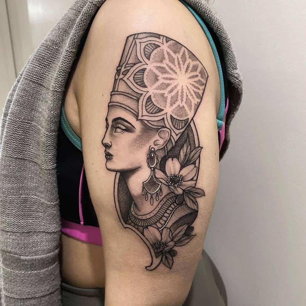 Arm Sleeve Nefertiti Tattoos Amytoddtattoo